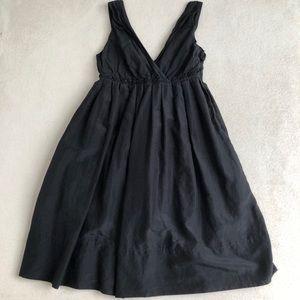Gap V Neck Sun Dress Black Albee Length Size 4